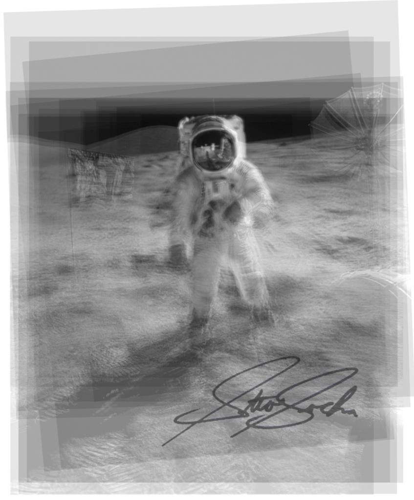moon landing overlay